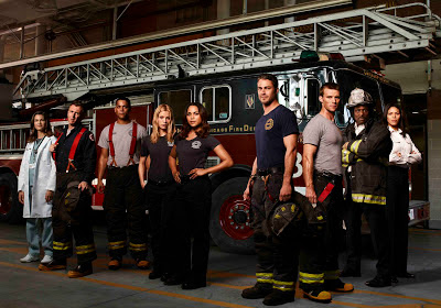 The cast of Chicago Fire