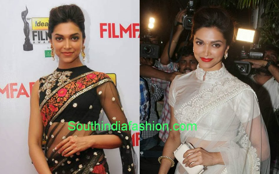 celebrity high neck blouse designs