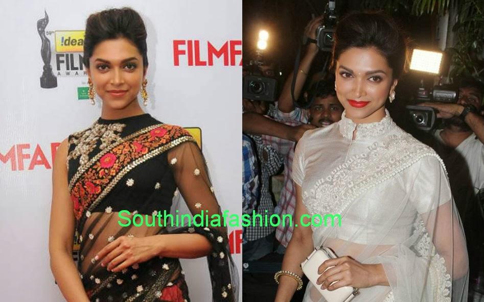 celebrity high neck blouse designs