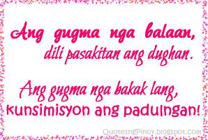 I Love You Quotes Bisaya : Kunsimisyon Lang