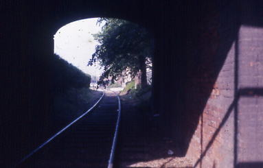 Track through tunnel  1986