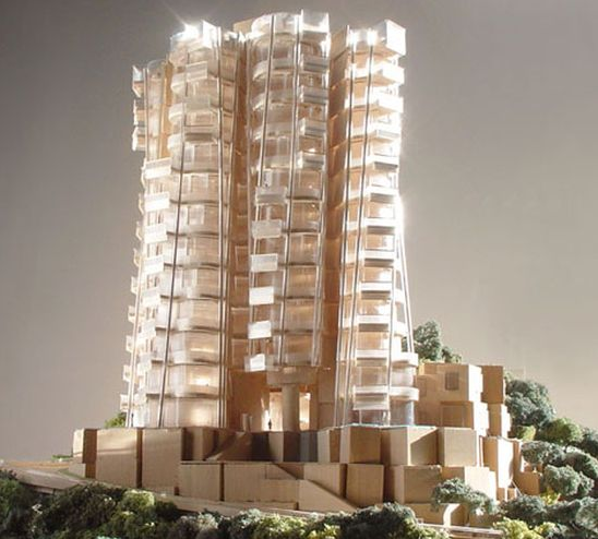 photo of opus hong kong building apartment by frank gehry