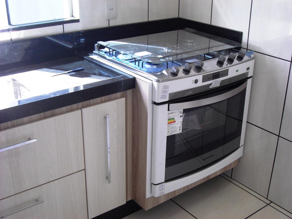 Cozinha Granito Preto São Gabriel e Fogão de Embutir #376694 1024x768 Bancada Banheiro Teca