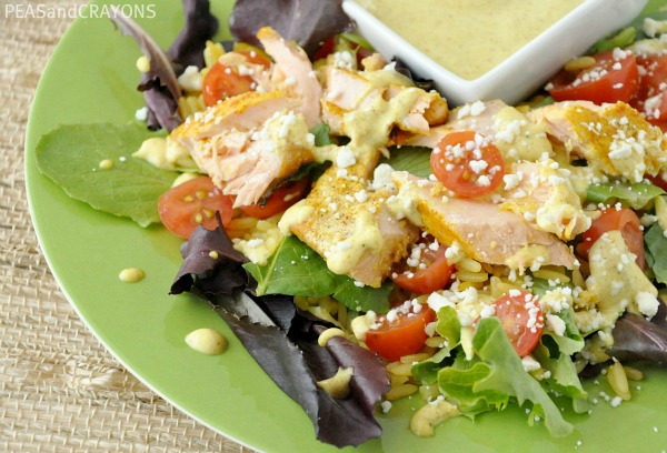 Salmon Chop Chop with Creamy Curry Dressing