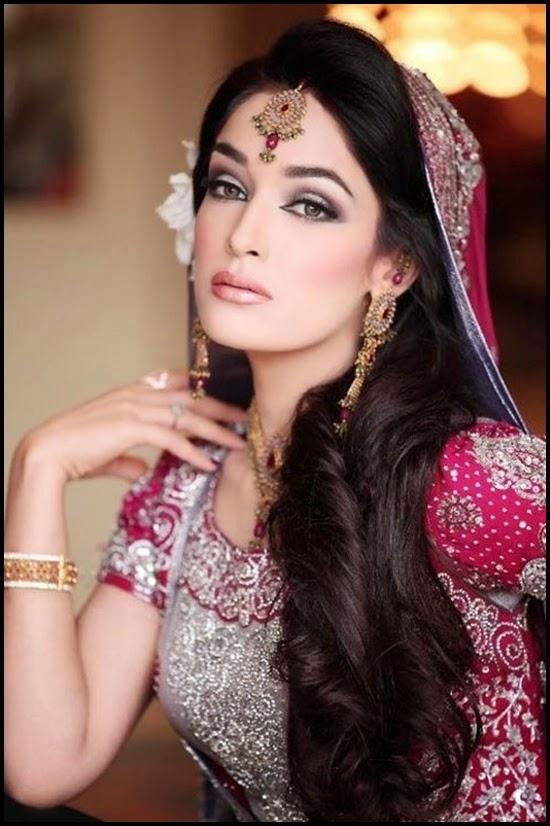 Pakistani Beautiful Bridal Makeup Ideas 2014-2015 Wallpapers Free Download