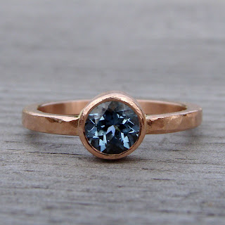 rose gold sapphire