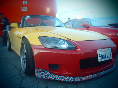 Stanced Rims Tires Honda S2000 at Montreal Orange Julep