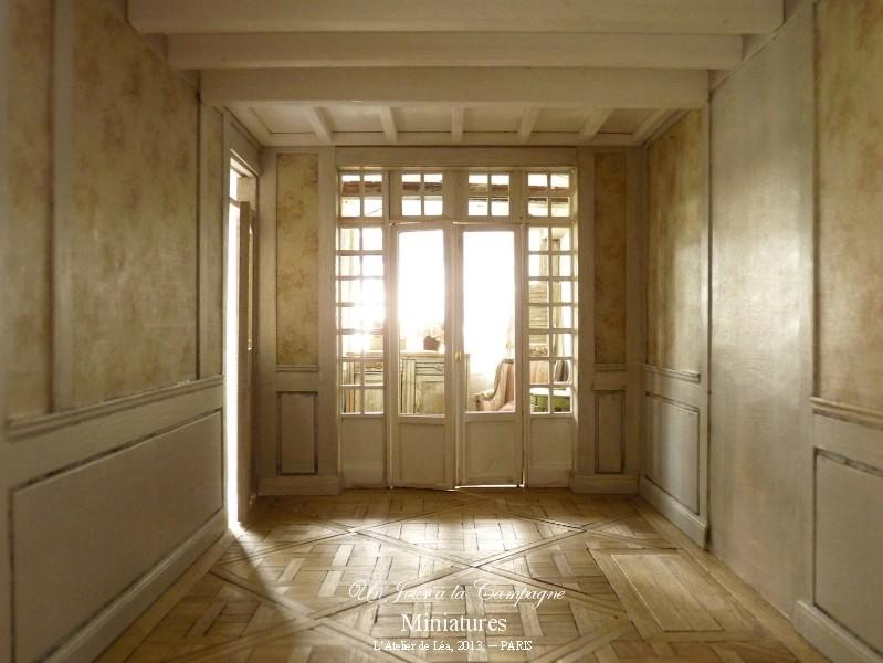 le salon romantique parquet versailles boiseries chemin e trumeau. Black Bedroom Furniture Sets. Home Design Ideas