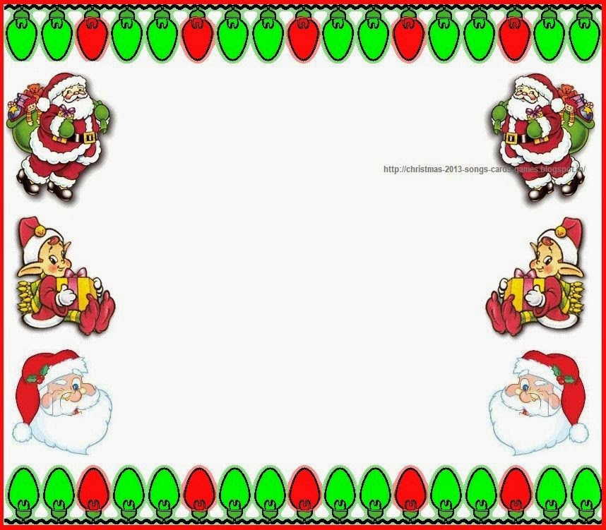 Christmas 2015 Light and Santa Clip Art Borders