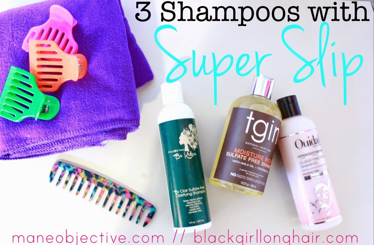 3 Shampoos with Super Slip for Natural Hair