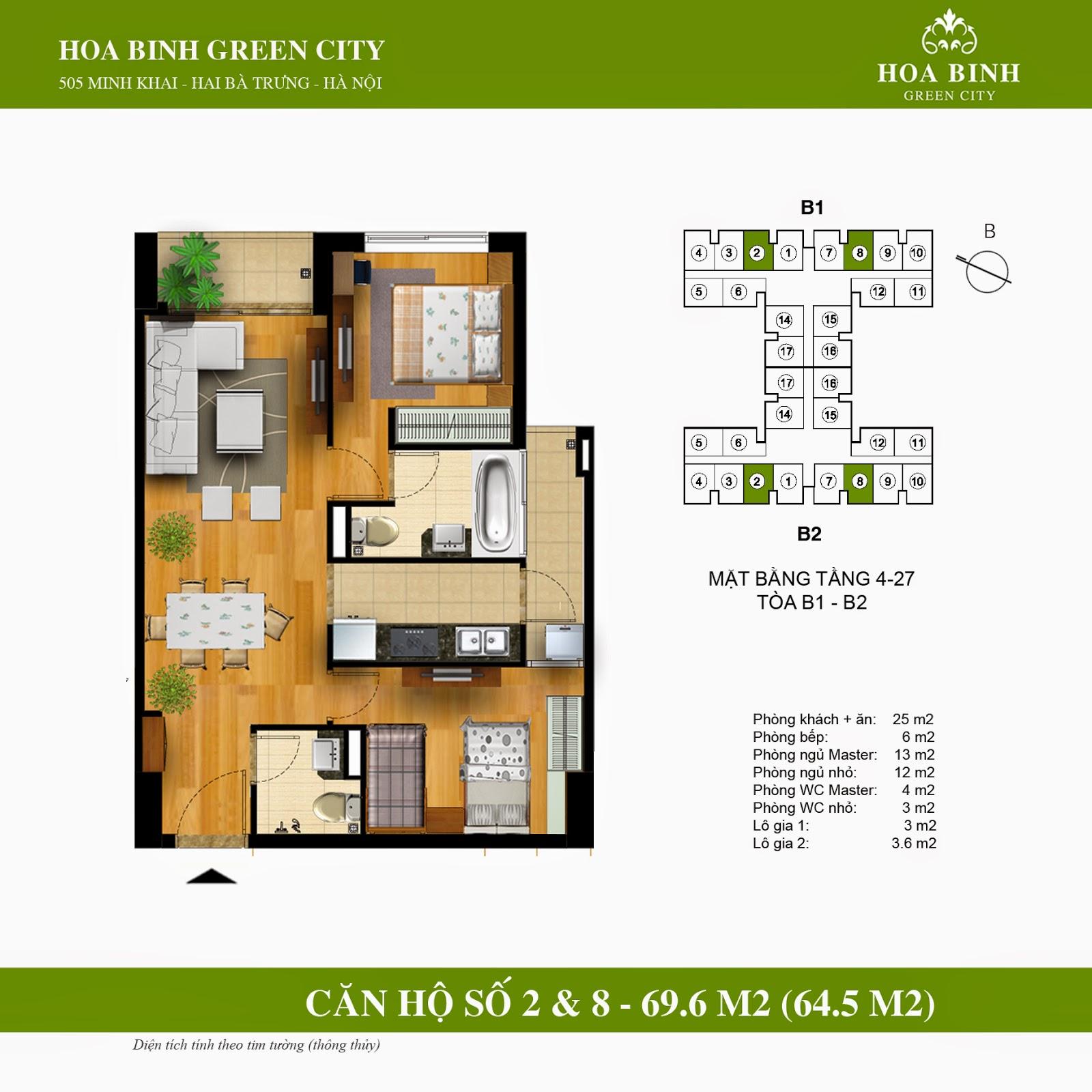 Hòa Bình Green City căn 69,6m2
