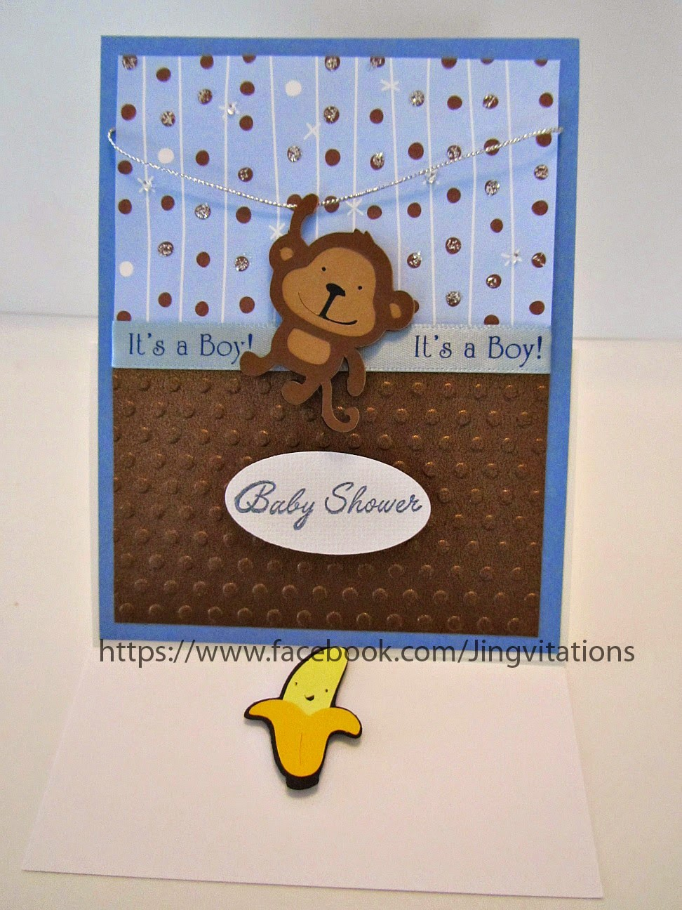 Jingvitations: Monkey Theme for Baby Shower Invitations