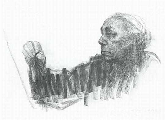 Drawing With No Lines : Drawing 1 2015: self portriat 1924 kathe kollwitz