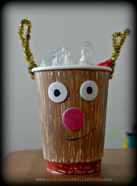 sun hats wellie boots paper cup reindeers. Black Bedroom Furniture Sets. Home Design Ideas
