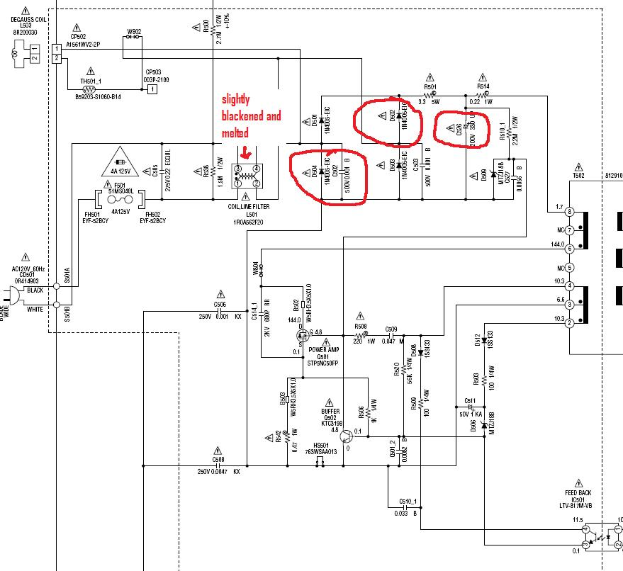 Sony Rear Projection TV Power Supply Diagram also Rear Projection TV ...