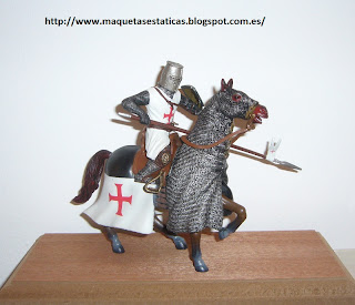 scale figure of a Knight Templar