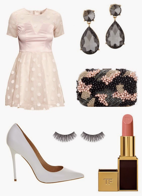 Christmas Party Outfit Ideas 2014 Part - 17: Patterned Organza Dress - £24.99 From Hu0026M (click Here To View) Kilgallen  Earrings - £12 From Aldo (click Here To View) Beaded Box Clutch - £39.99  From Zara ...