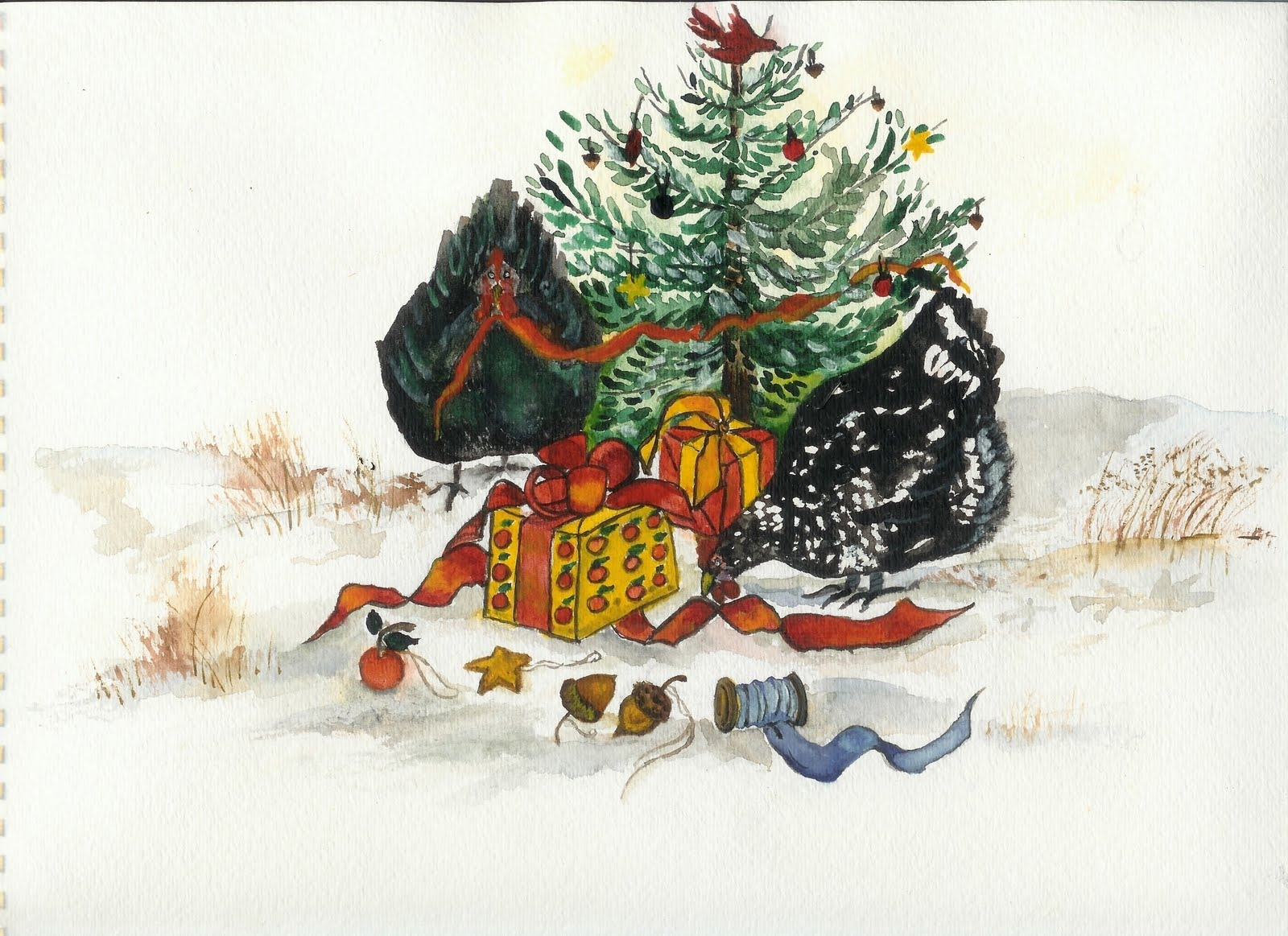 Christmas Cards from High Ground Farm...Java Chickens Decorating the ...
