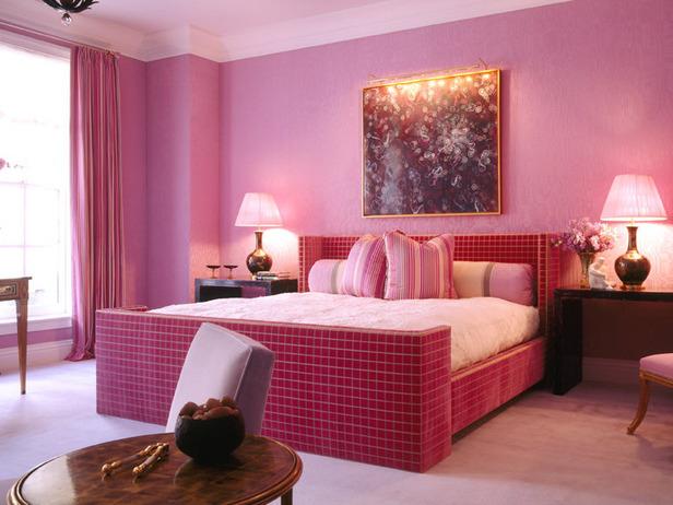 dica quarto cor de rosa Decoração de quarto rosa
