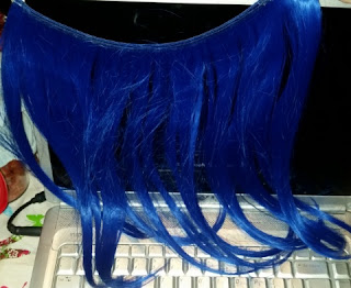 secret color electric blue hair extensions