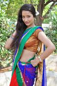 Santoshi sharma half saree pics-thumbnail-11