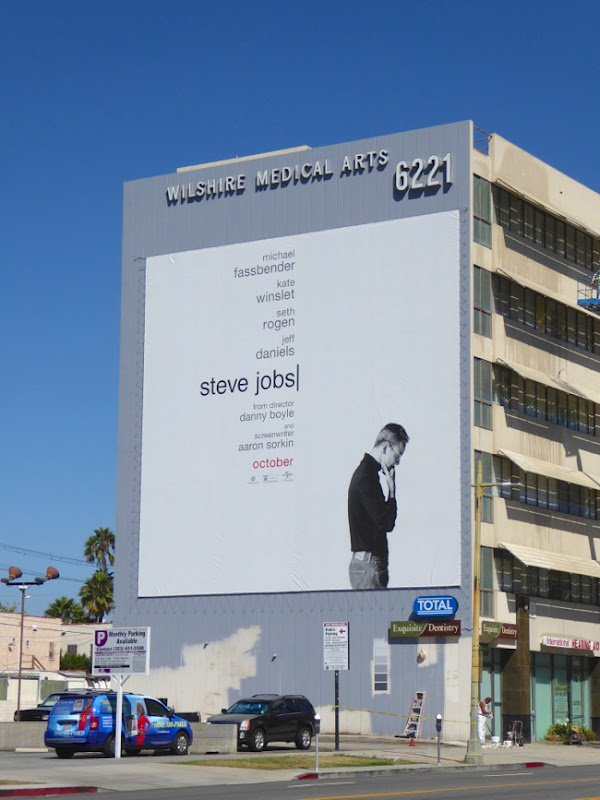 Giant Steve Jobs film billboard