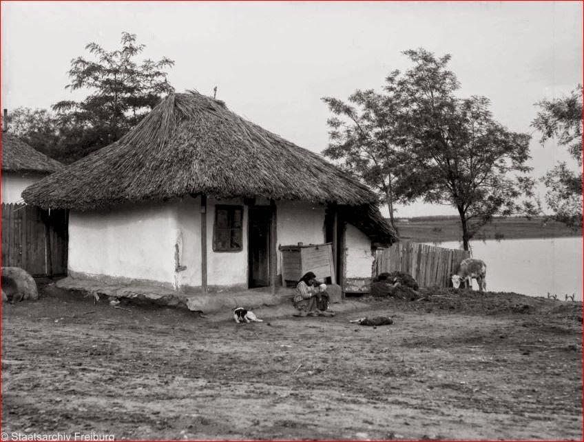 Buftea anul 1935 taranca si copil