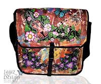 Wild Rose & Crocus Violin Messenger bag by Melissa Muir (Lagaz Designs)
