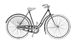 bike vintage illustrations womens