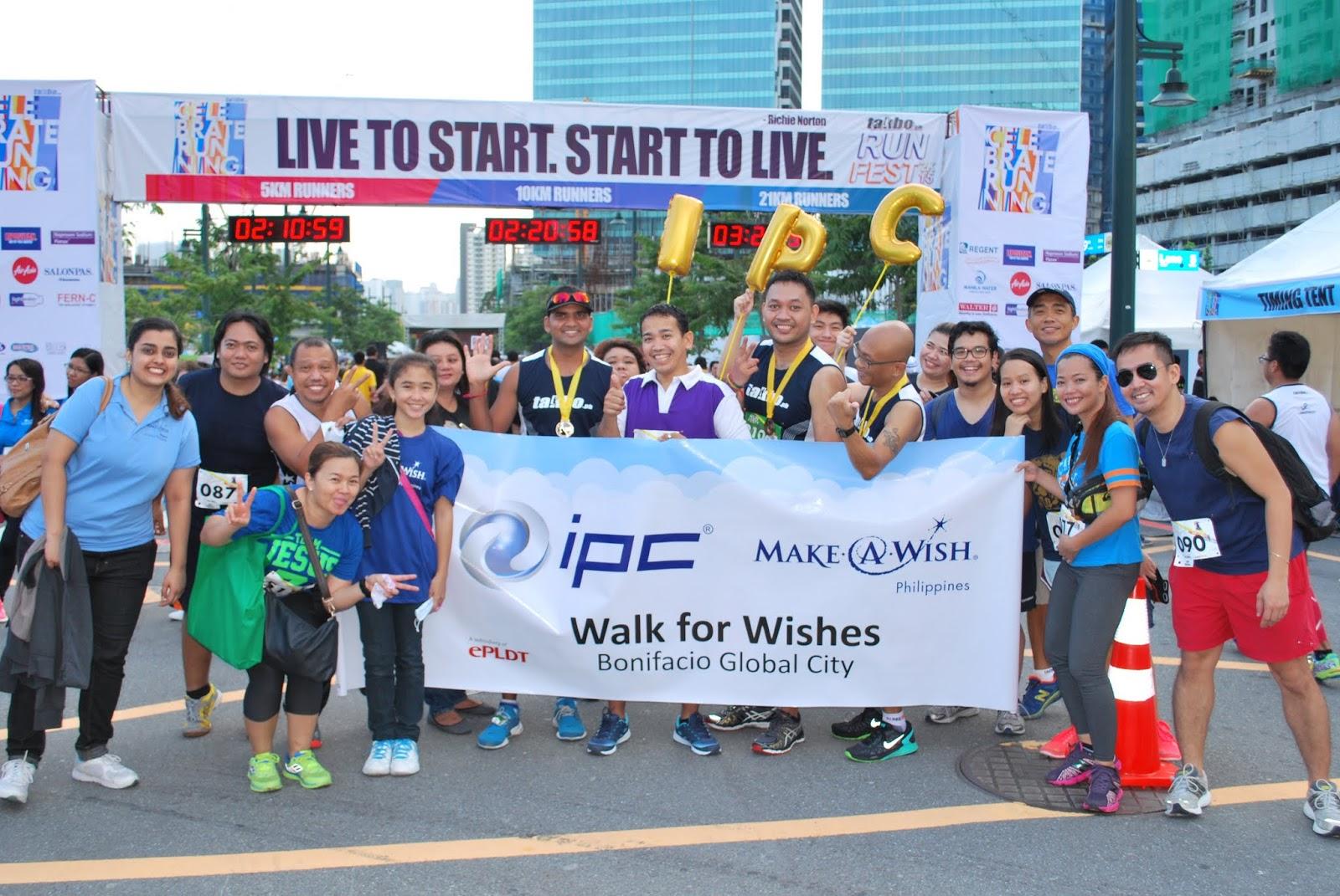 Team IPC with Wish Kid Amie