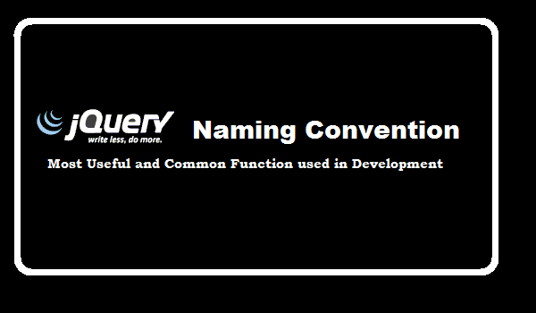 jQuery naming convention - jQuery tutorial for beginner