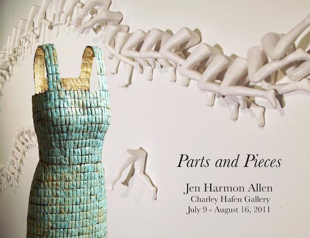 Jen Harmon Allen Parts and Pieces exhibition postcard