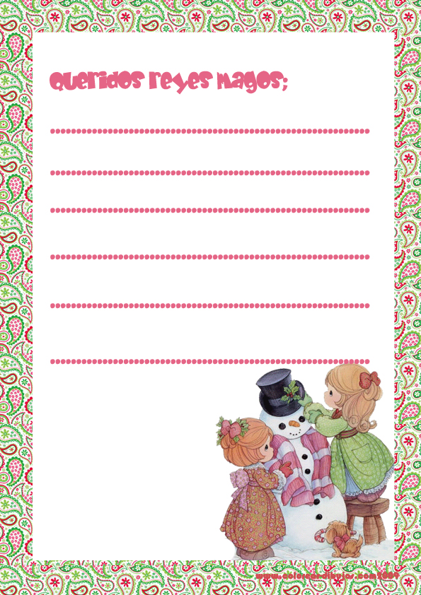 Recursos Infantiles  Cartas Reyes Magos