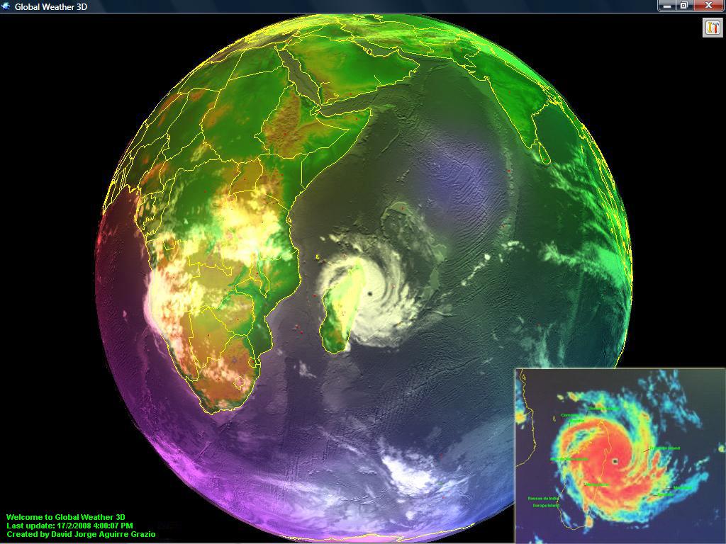 Meteorología Básica: Descarga Globo terráqueo 3D del tiempo