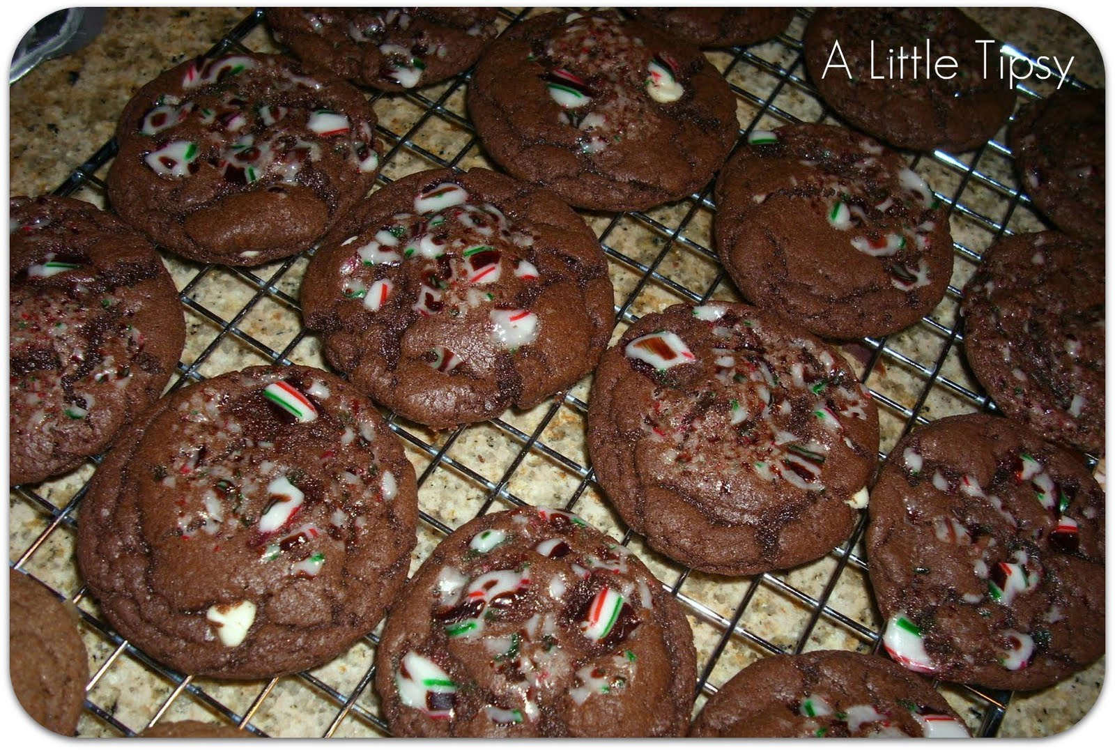 Chocolate Candy Cane Crunch Cookies With A Little Tipsy Honeybear Lane