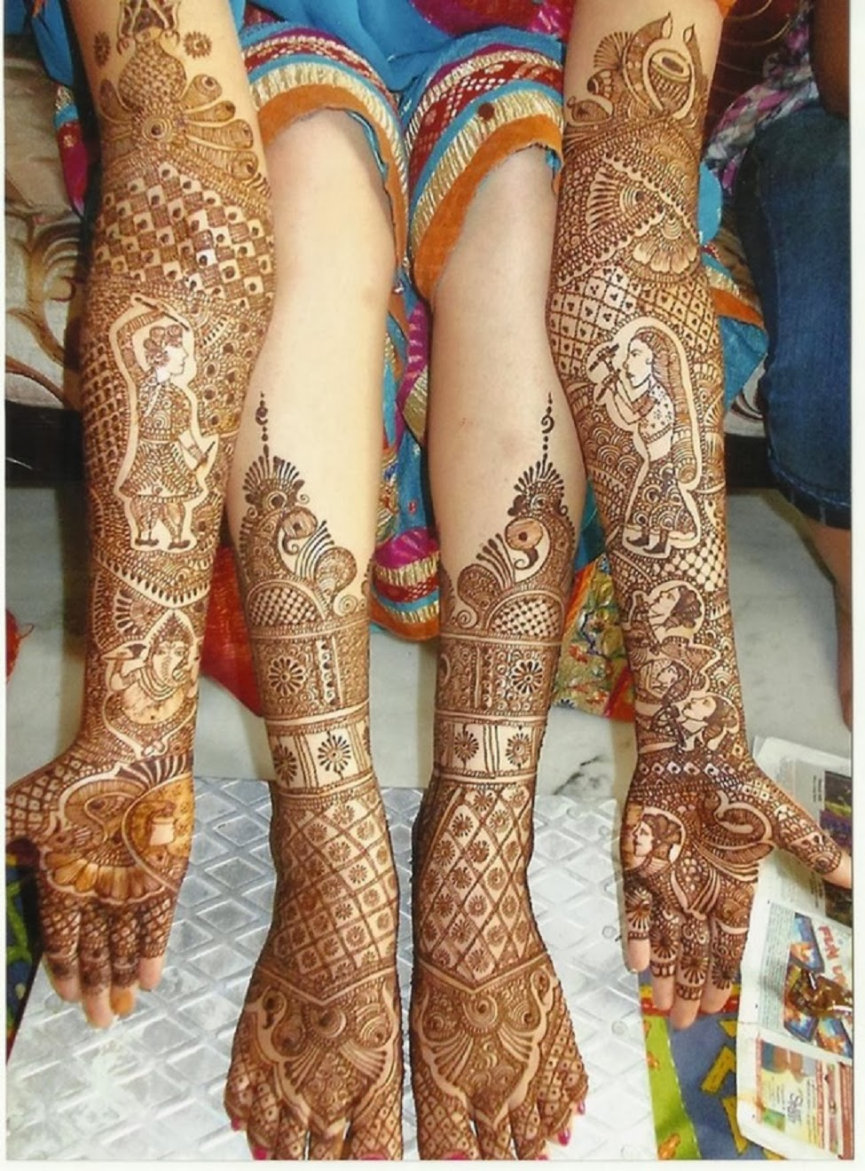 Mehndi Design Leg And Hand : Mehandi design for legs and hands pictures