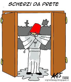 Giubileo, Porta Santa, papa francesco, satira vignetta