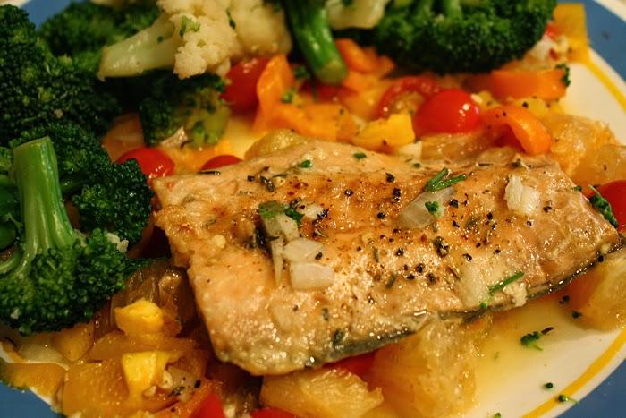 healthy baked orange citrus grapefruit salmon fish recipe easy detox diet