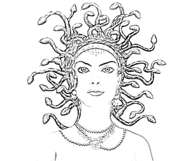 madusa colouring pages page 2