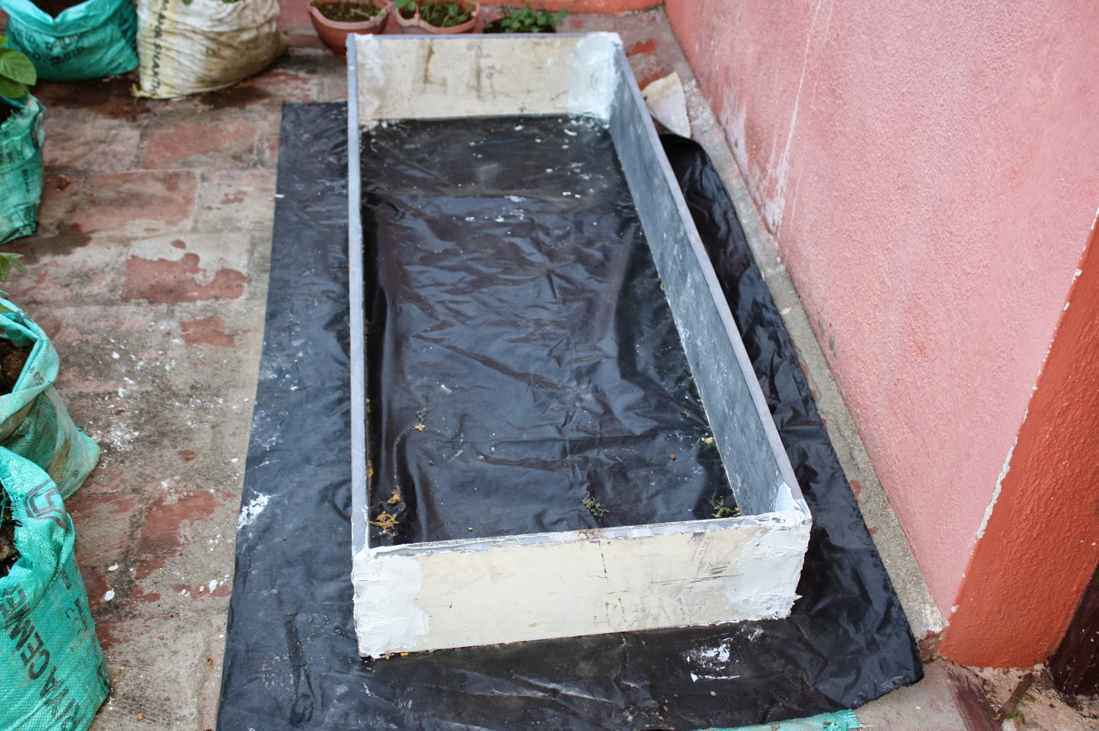 Terrace gardening what i made in my garden i purchased black colour plastic rolling sheets from broadway market in george town chennai rs13 per mtr6 ft width after visiting so many shops solutioingenieria Images