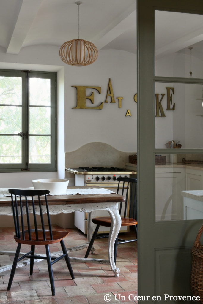 Provençal Kitchen with vintage furnitures