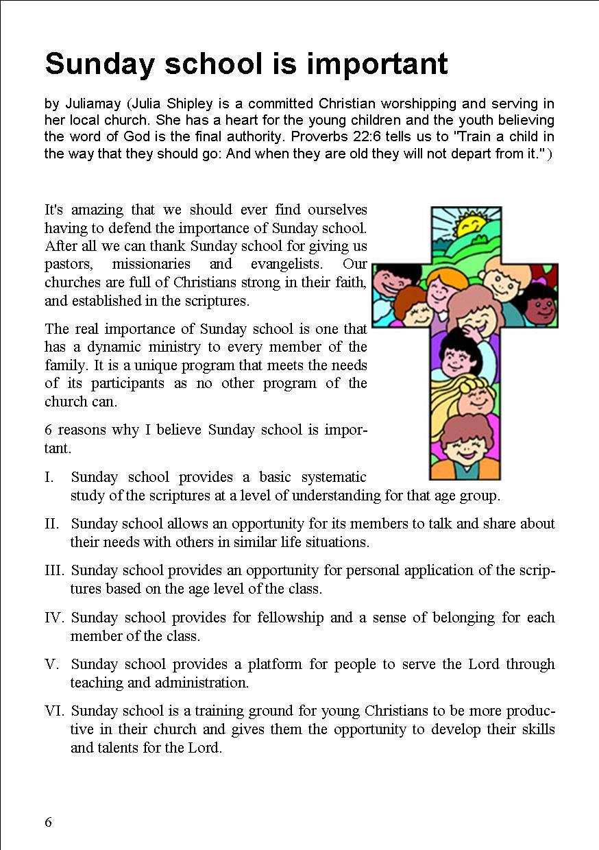 The Basel Christian Church of Malaysia, Sandakan: Sunday school is