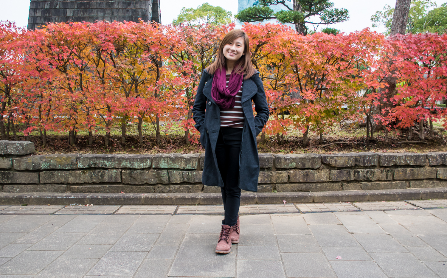 OOTD outfit in nagasaki peace park