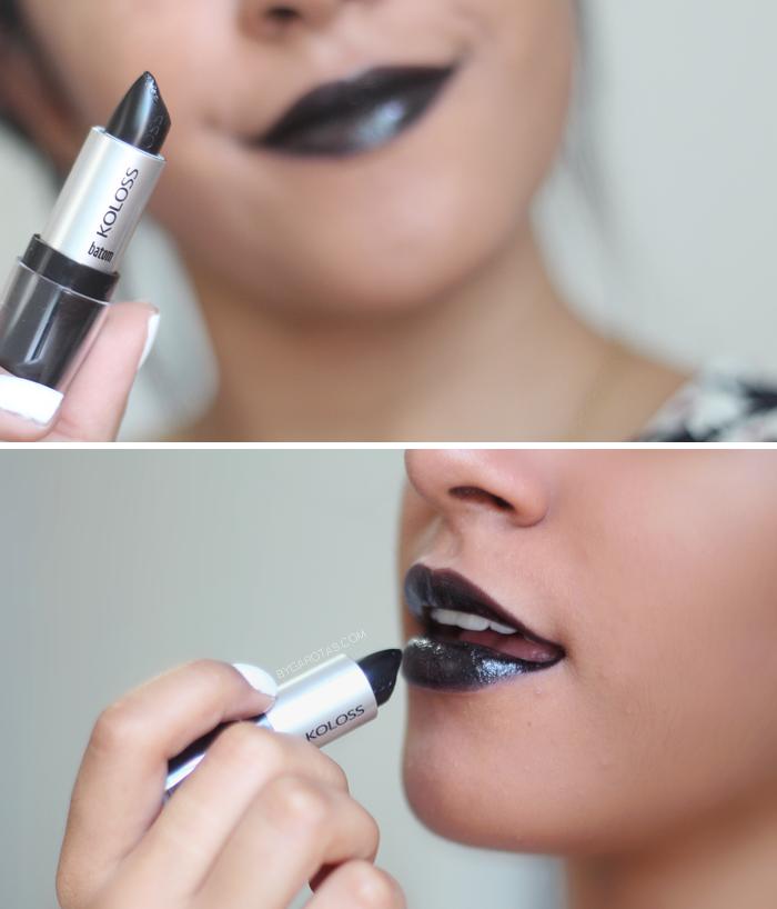batom preto, como usar, koloss, debby shop, maquiagem, dicas, truques