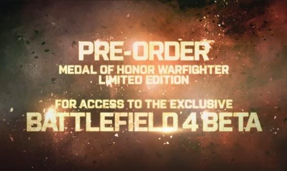 Si reservabas la edición limitada de MOH Warfighter te prometian una acceso exclusivo a la Beta de BF4