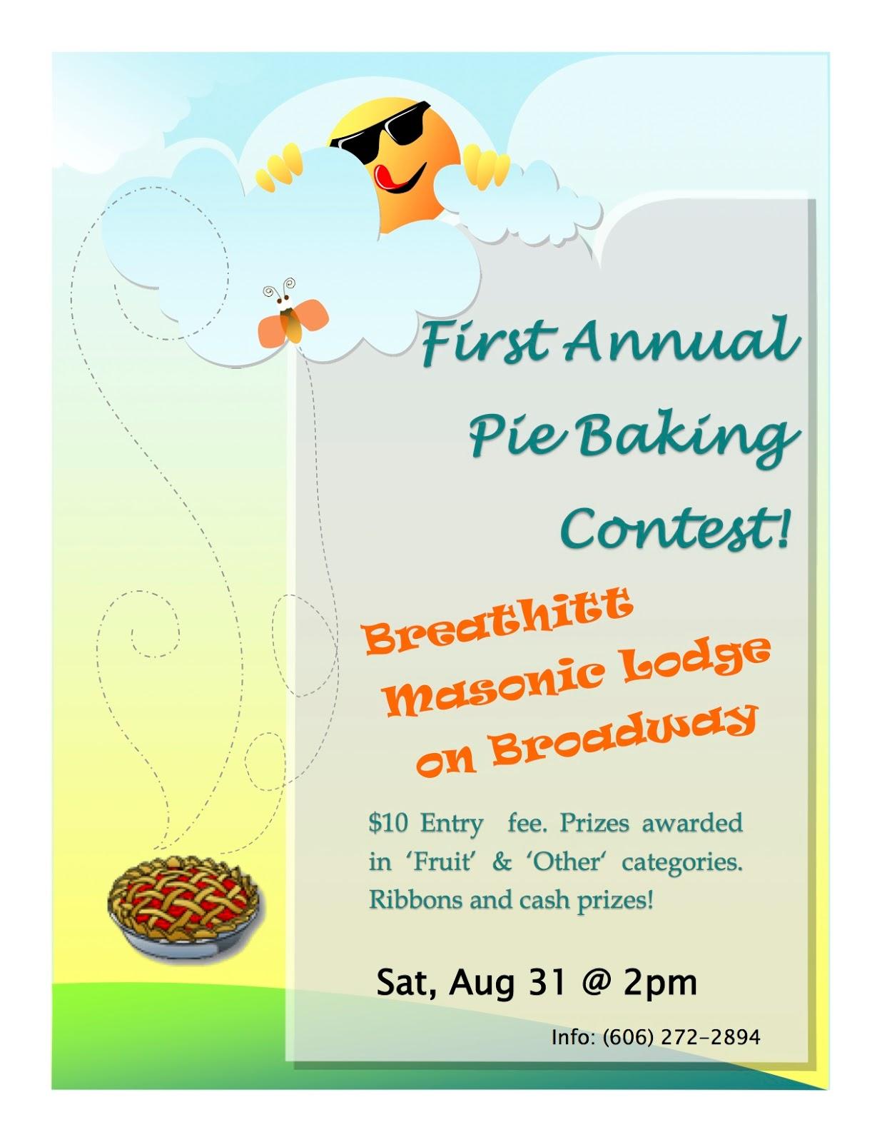 breathitt county honey festival pie baking contest pie baking contest