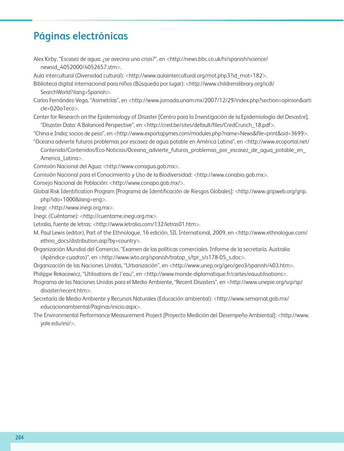 Páginas electrónicas - Geografía Bloque 5to 2014-2015