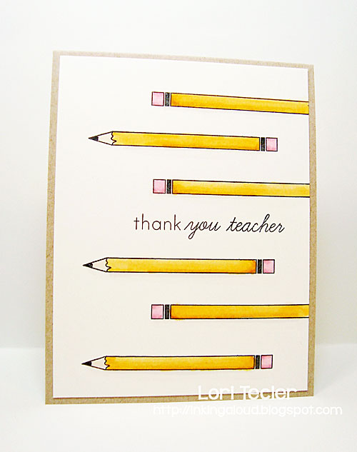 Thank You Teacher card-designed by Lori Tecler/Inking Aloud-stamps from Papertrey Ink