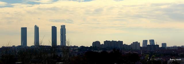 Torres de la ciudad de Madrid desde el Monte de El Pardo