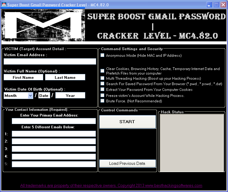 gmail password hacker software free download full version